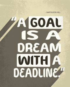 make a goal SMART - specific, measurable, attainable, realistic and time sensitive