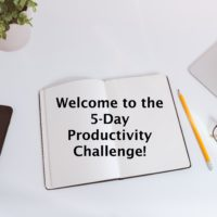 Up for a Challenge? Join our 5-Day Productivity Challenge