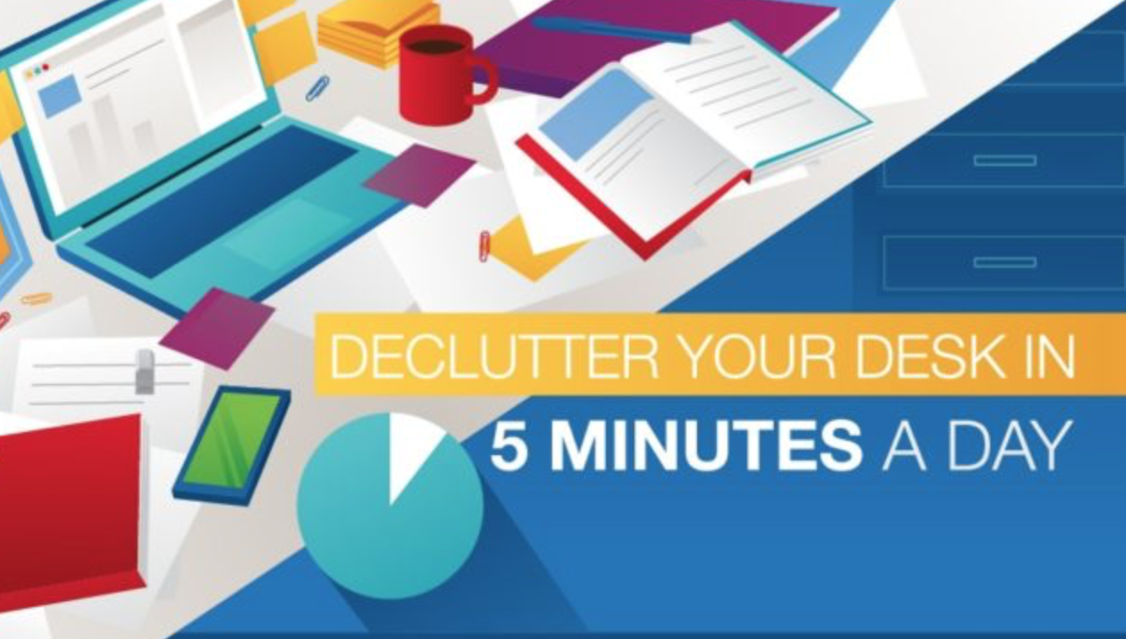 Declutter and organize your desk in 5 minutes a day
